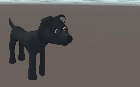 3d model dog black