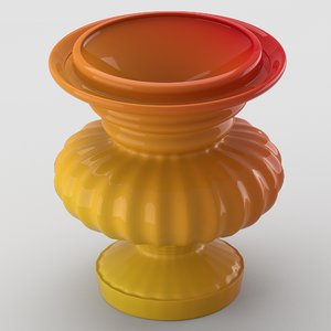 3d laquered decorative vase model