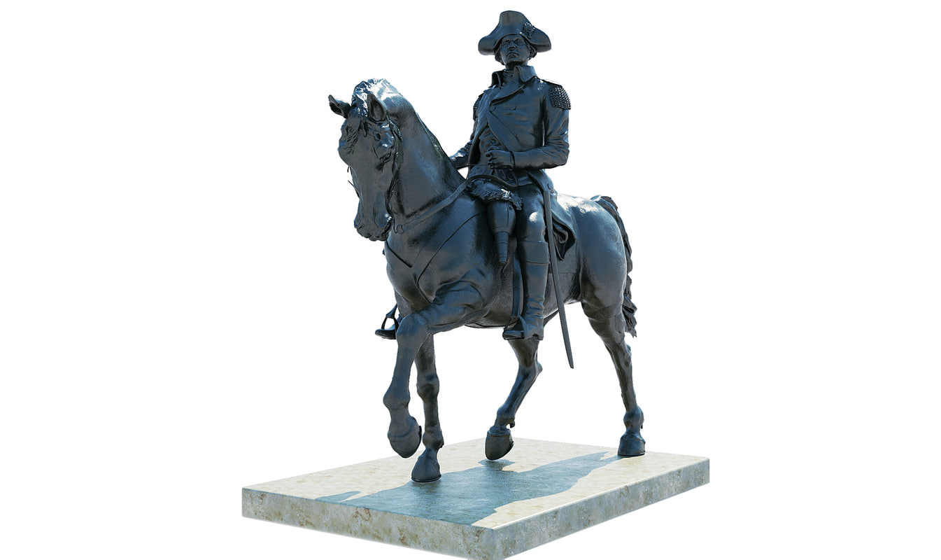 3ds max george washington statue boston