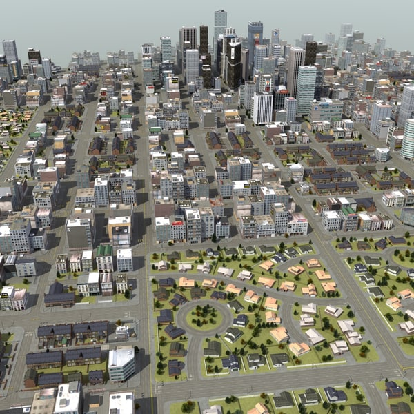 3d huge city rt