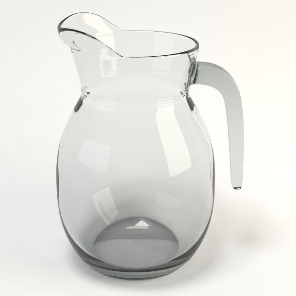 glass jug 3d x