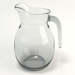 glass jug 3d x