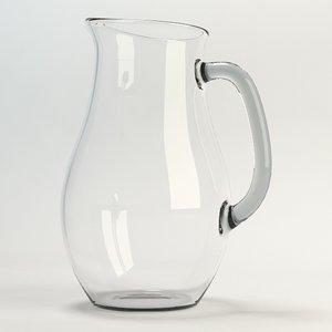 glass jug 3d max