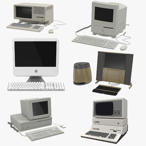max retro apple computers modeled