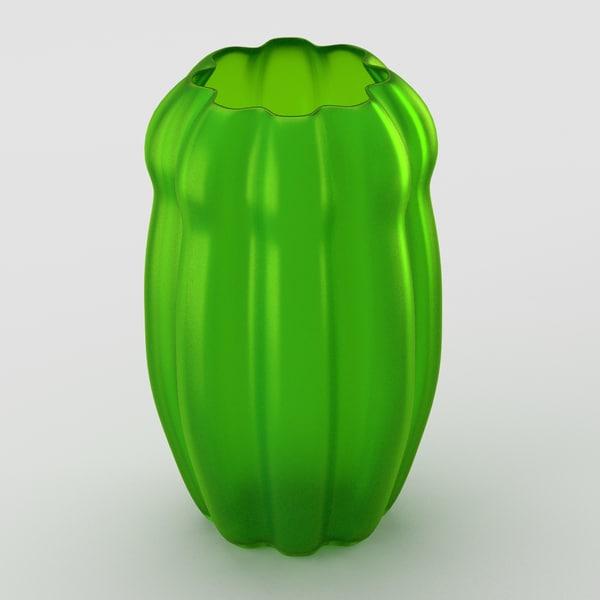3d decorative matte glass vase