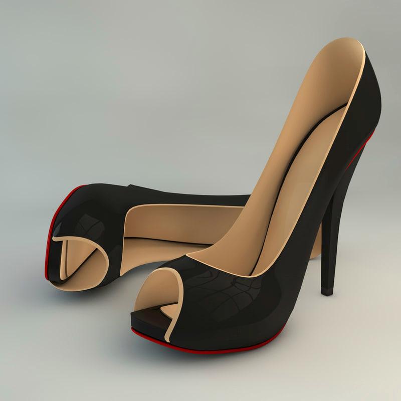 3ds feminine heels