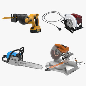 electric saws 2 modeled 3d max