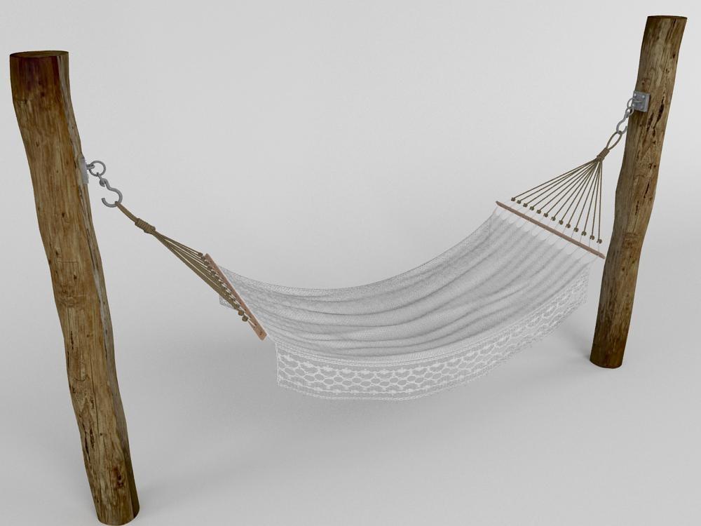 3d model of hammock