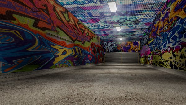 graffiti tunnel c4d
