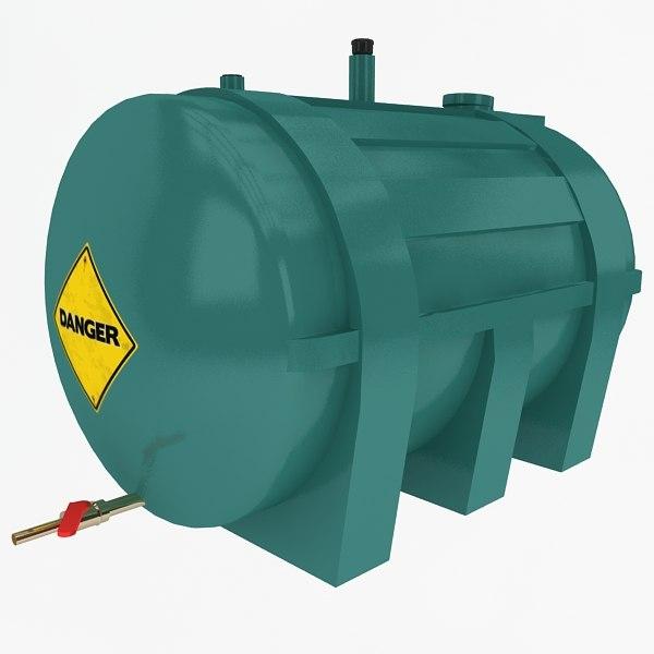 oil tank 3d max