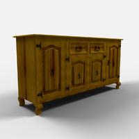 veracruz sideboard aparador 3d model