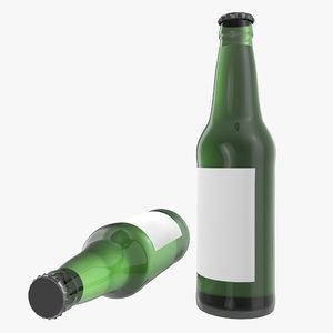 beer bottle 2 modeled 3d max