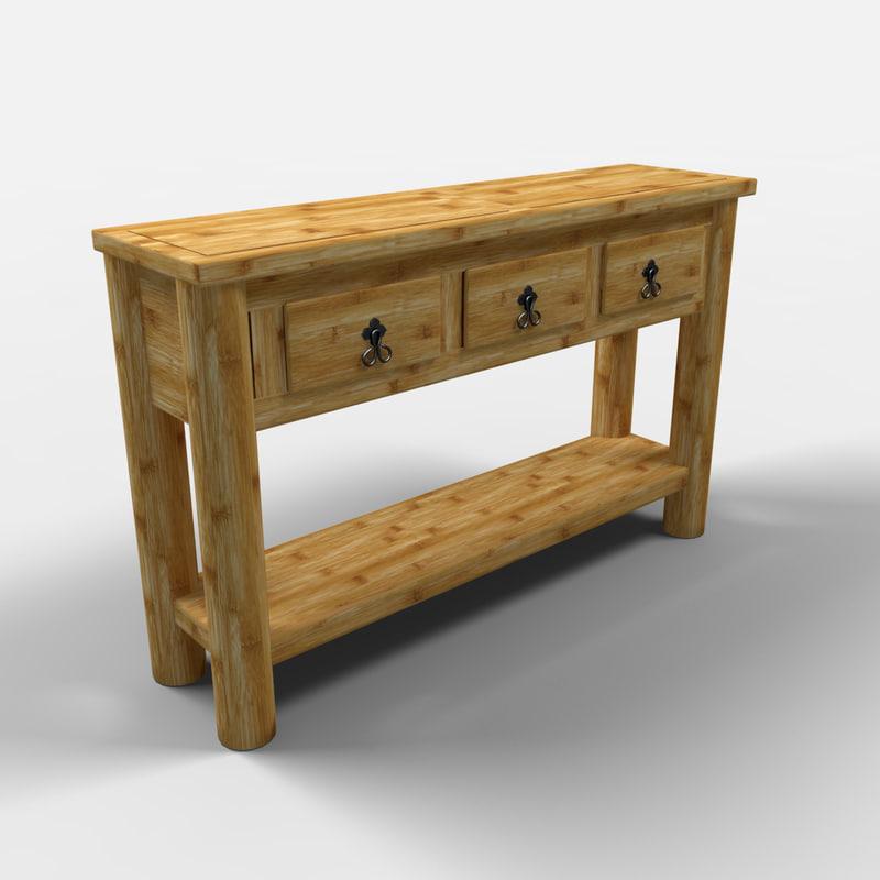 3d yucatan pier table consola model