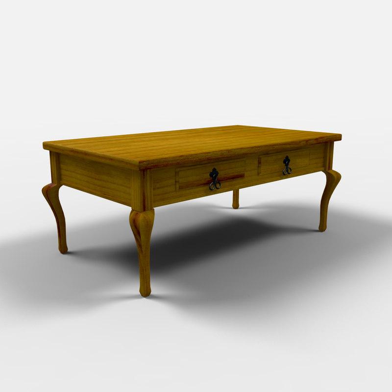 3d veracruz coffee table mesa model