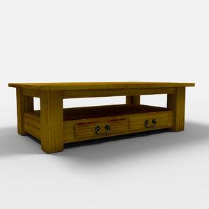 parana coffee table mesa 3d max