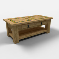 3d model sunflower coffee table mesa