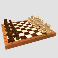 free classic chess 3d model