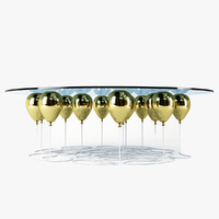 coffee table gold 3d max