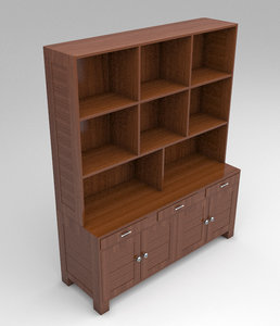 3d wooden cabinet model
