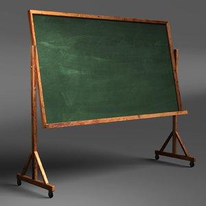 classroom chalkboard obj
