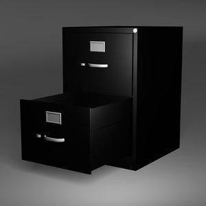 filing cabinet 3d obj