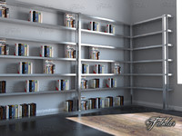 bookshelf mentalray reading 3d max