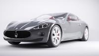 3d model car maserati