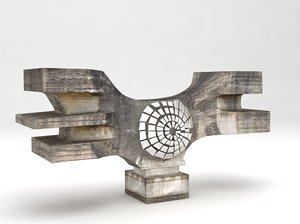 3d podgaric monument croatia model