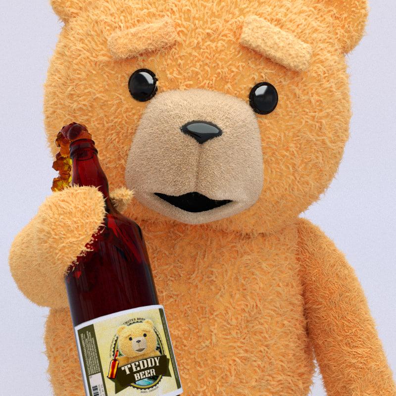 3d teddy bear ted model