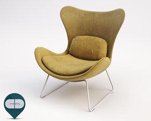c4d lazy armchair