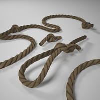 3d max rope knots