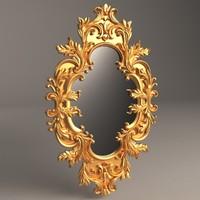 baroque mirror 3d obj