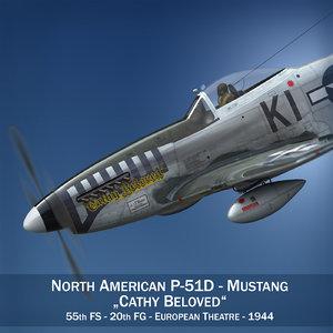3d model north american - cathy