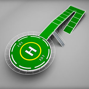 3d helicopter pad model
