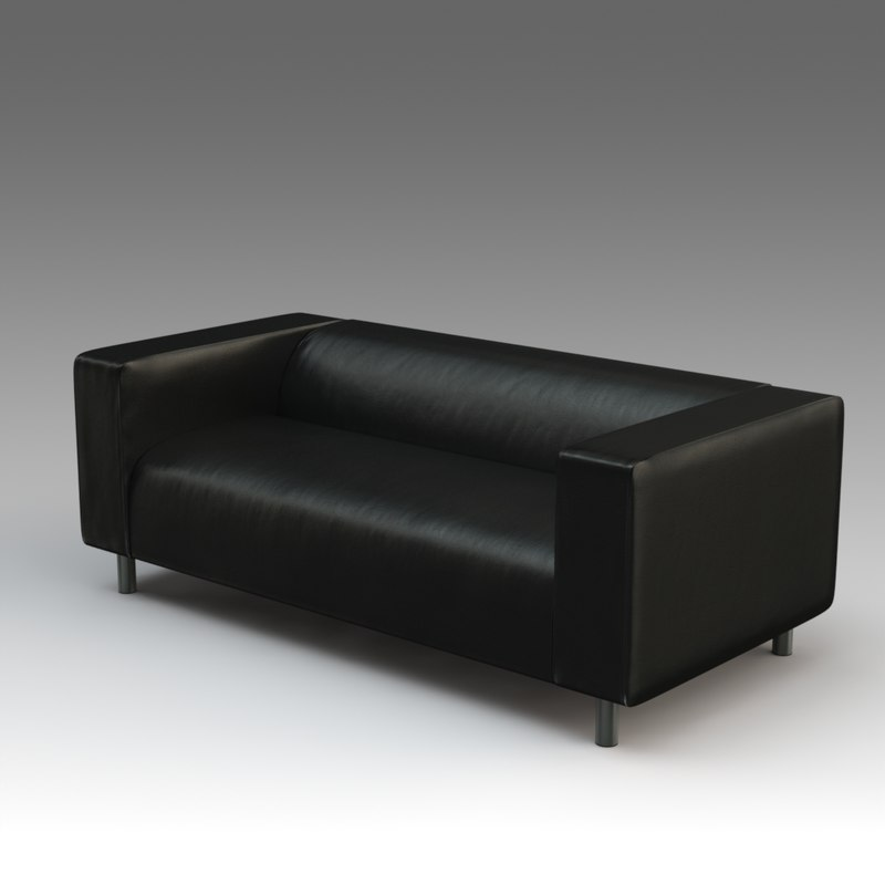 3d leather sofa ikea model