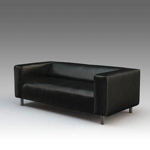 leather sofa ikea 3d model