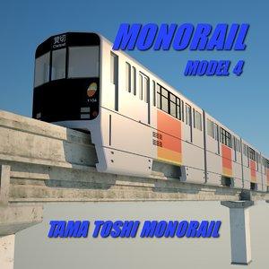 monorail 4 3d c4d