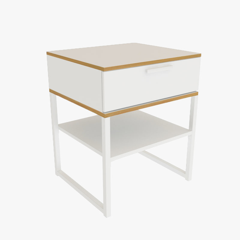 3ds max trysil bedside table