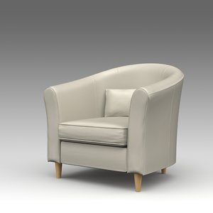 3d armchair ikea model
