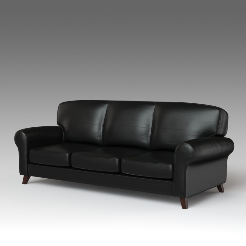 3d Fbx Leather Sofa Ikea