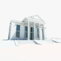 museum building symbol 3d model