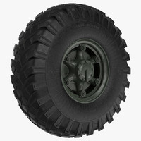 big truck wheel zil obj