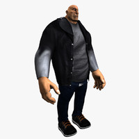 heavy cartoon characters male body 3d max