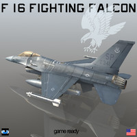 general dynamics f-16 fighting falcon 3d max
