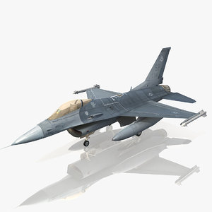 general dynamics f-16 fighting falcon 3d model