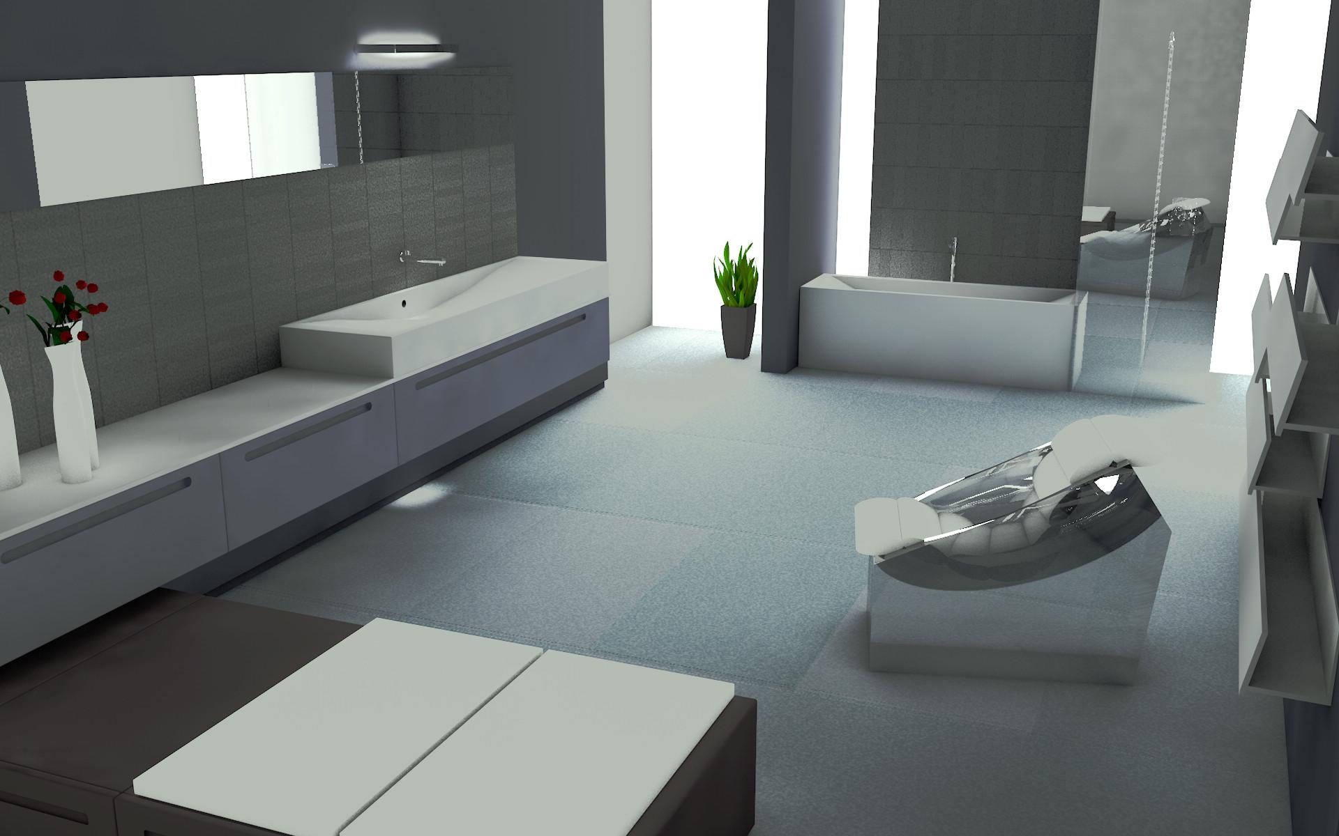 luxury bathroom c4d free