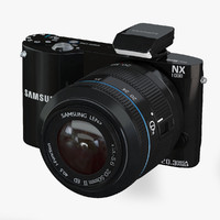 3d model samsung camera nx1000 black
