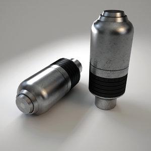 3d model vog-25 40 mm grenade