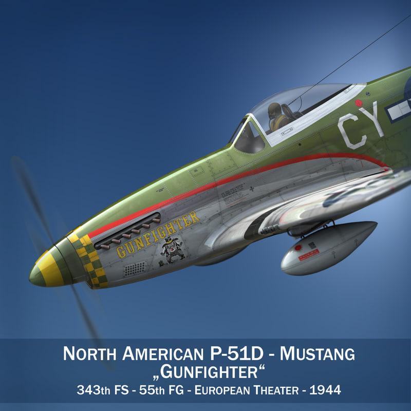 c4d north american - gunfighter