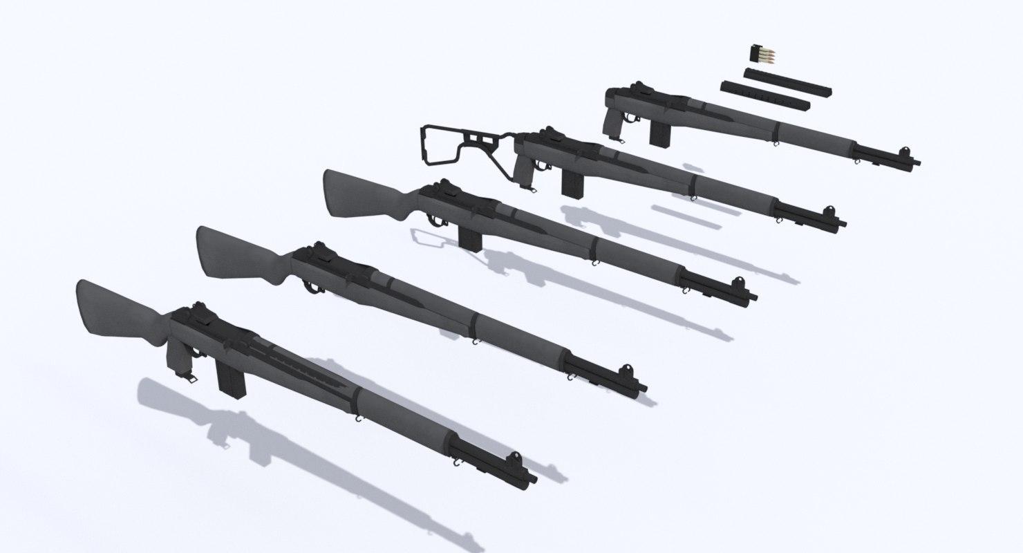 3ds max m1 garand rifle